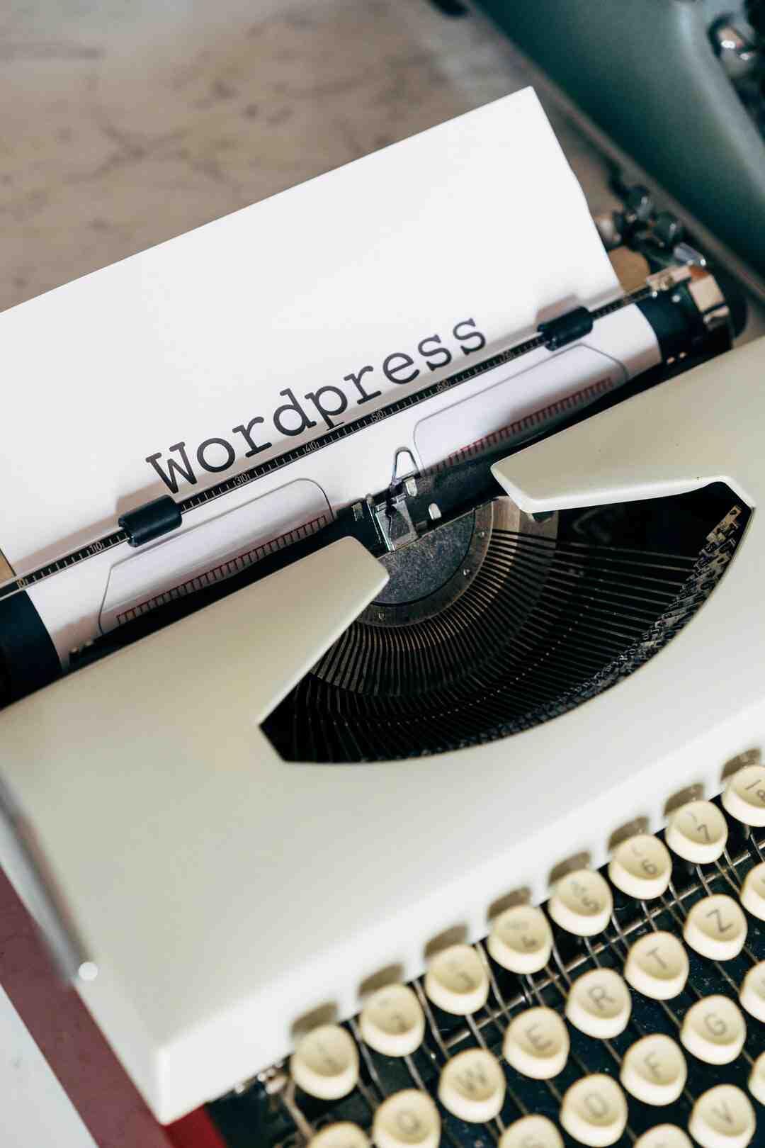 Wordpress comment mettre un article dans une page